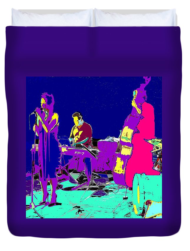 Singer Duvet Cover featuring the photograph All That Jazz by Ian MacDonald