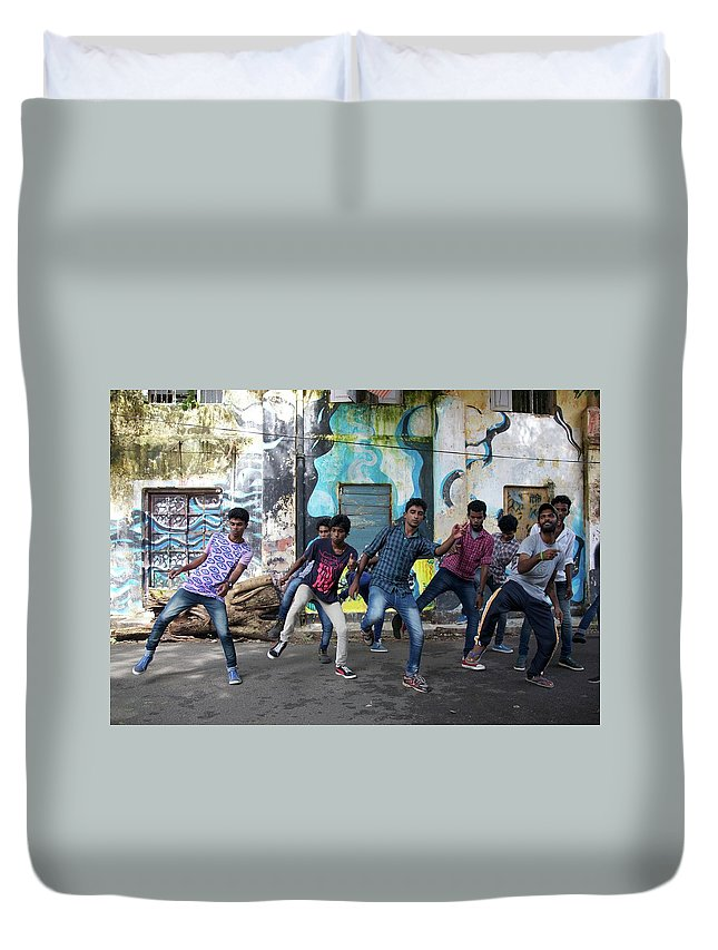 Bollywood Duvet Cover featuring the photograph All The Moves by Lee Stickels
