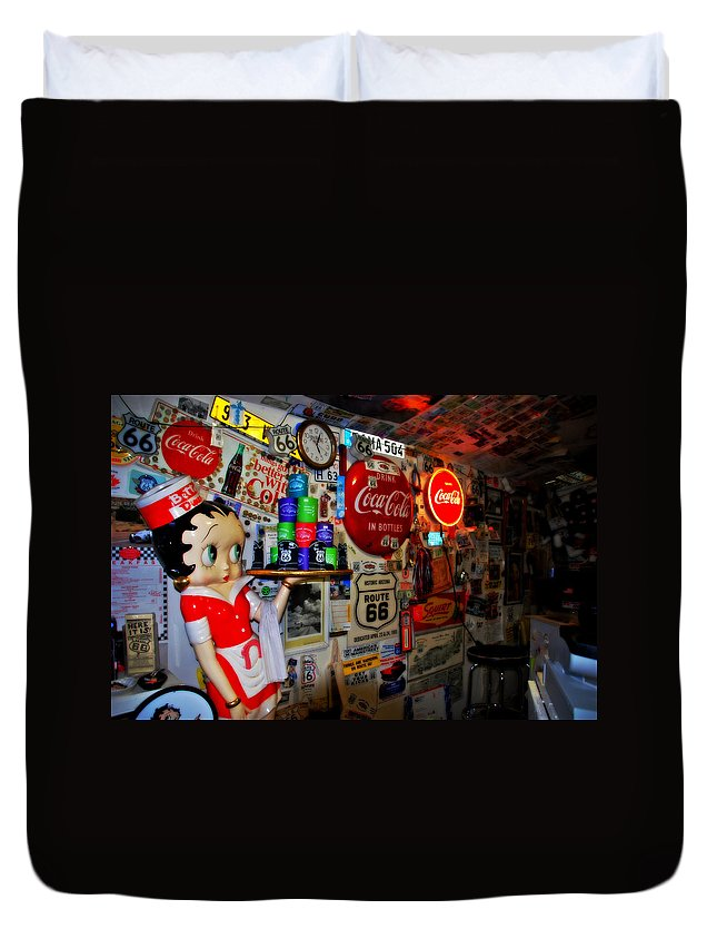 Route 66 Duvet Cover featuring the photograph All The Souvenirs Of Route 66 by Susanne Van Hulst
