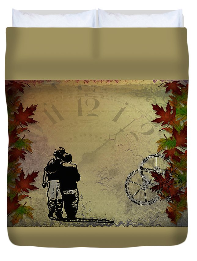 Children Duvet Cover featuring the photograph All The Time In The World by Bill Cannon