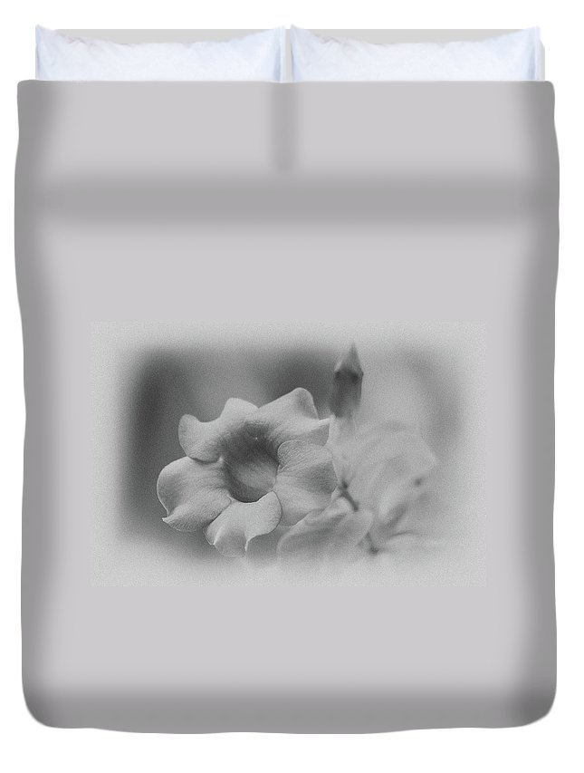 Allamanda Duvet Cover featuring the photograph Allamanda Bloom by Michael Peychich