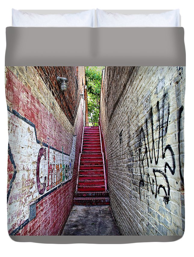 Alley Duvet Cover featuring the photograph Alley At Chapelhill by Inho Kang