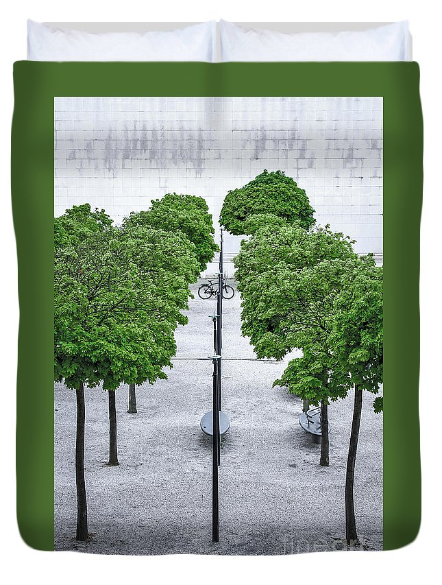 Perfectionism Duvet Cover featuring the photograph Alley Of Perfectionists by Katarjina Telesh