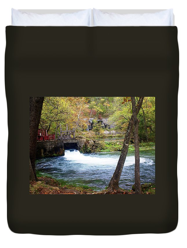 Alley Spring Duvet Cover featuring the photograph Alley Spring by Marty Koch