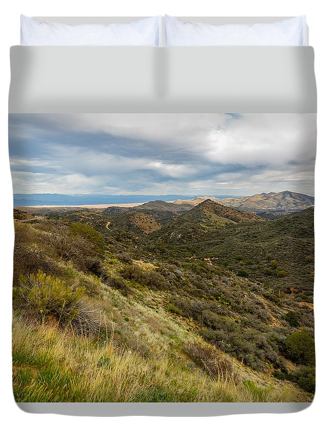 Arizona Duvet Cover featuring the photograph Alluring Landscape Of Arizona by Billy Bateman