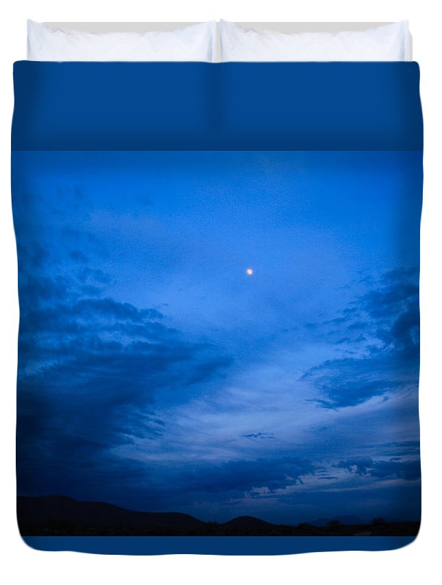 Duvet Cover featuring the photograph Almost Full by Kevin Mcenerney