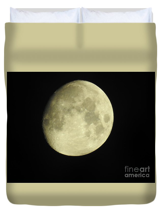 Almost Full Moon Duvet Cover featuring the photograph Almost Full Moon by Ruth Housley