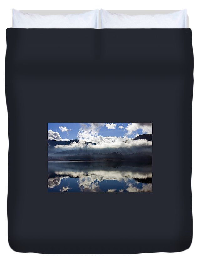 Heavenly Light Duvet Cover featuring the photograph Almost Heaven by Mike Dawson