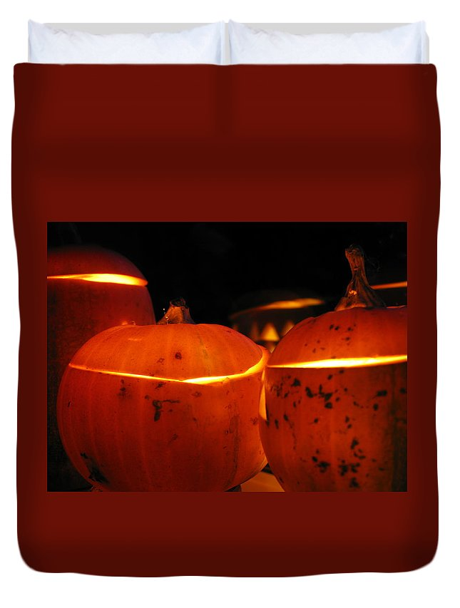 Halloween Duvet Cover featuring the photograph Almost Midnight by Maria Joy