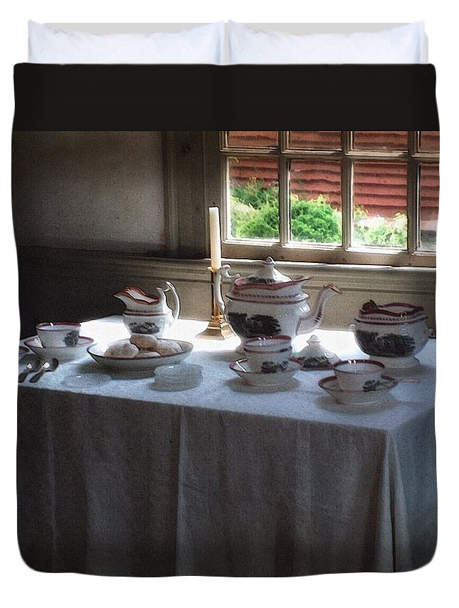 Americana Duvet Cover featuring the painting Almost Tea Time by RC DeWinter