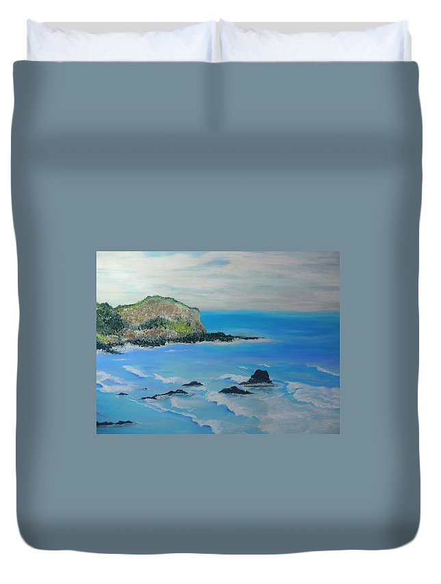 Hawaii Duvet Cover featuring the painting Aloha by Melinda Etzold