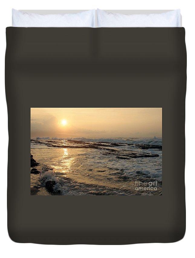 Aloha Duvet Cover featuring the photograph Aloha Oe Sunset Hookipa Beach Maui North Shore Hawaii by Sharon Mau