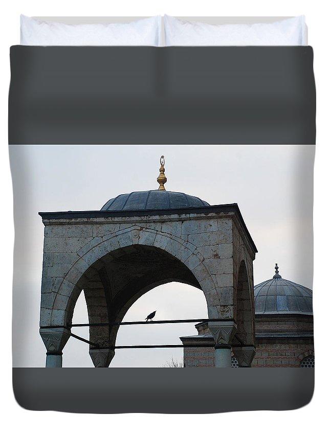 Bird Duvet Cover featuring the photograph Alone Bird by Onur KURT