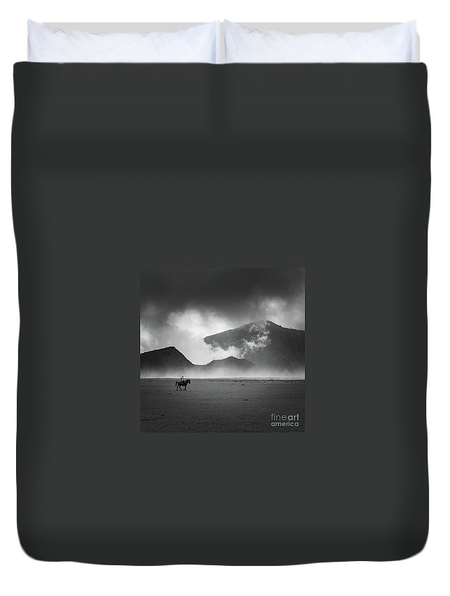 Duvet Cover featuring the photograph Alone by Dika yudha rio p