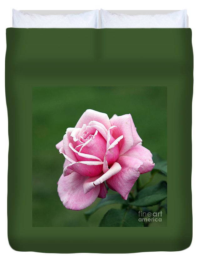 Rose Duvet Cover featuring the photograph Alone Time by Amanda Barcon
