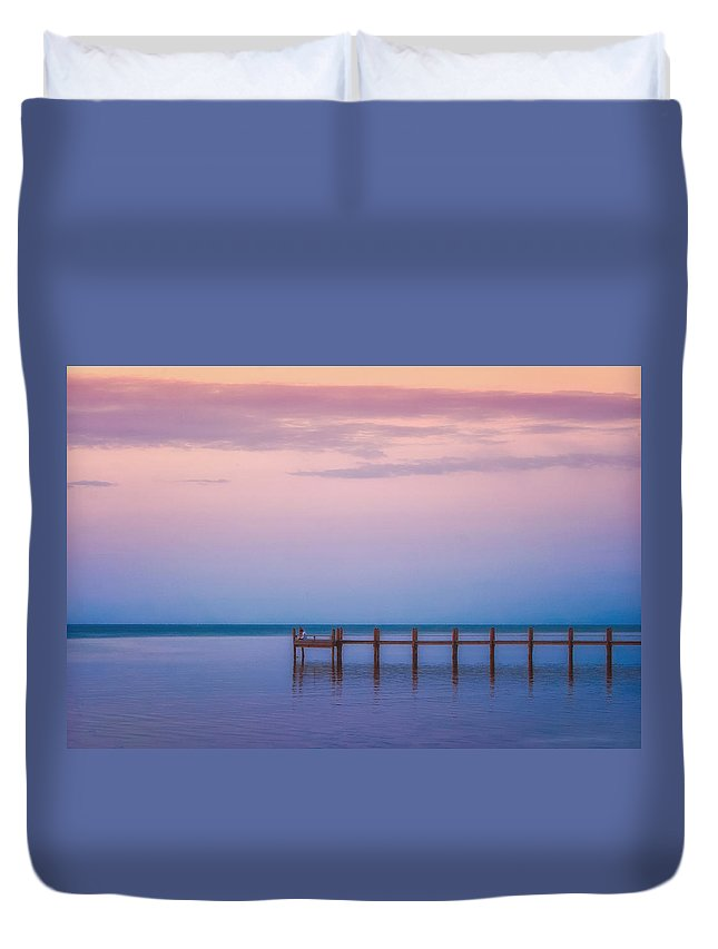 Atlantic Duvet Cover featuring the photograph Alone With My Thoughts by Ronn Orenstein