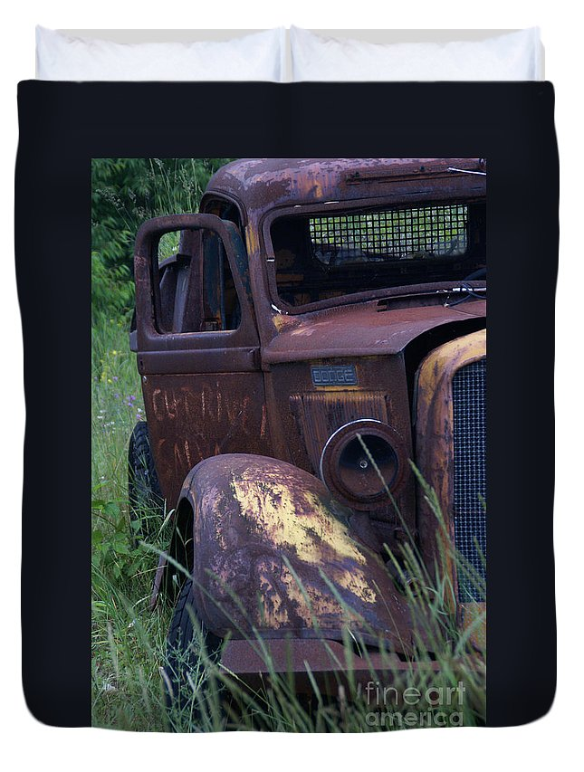 Truck Duvet Cover featuring the photograph Along Highway 2 by Linda Shafer
