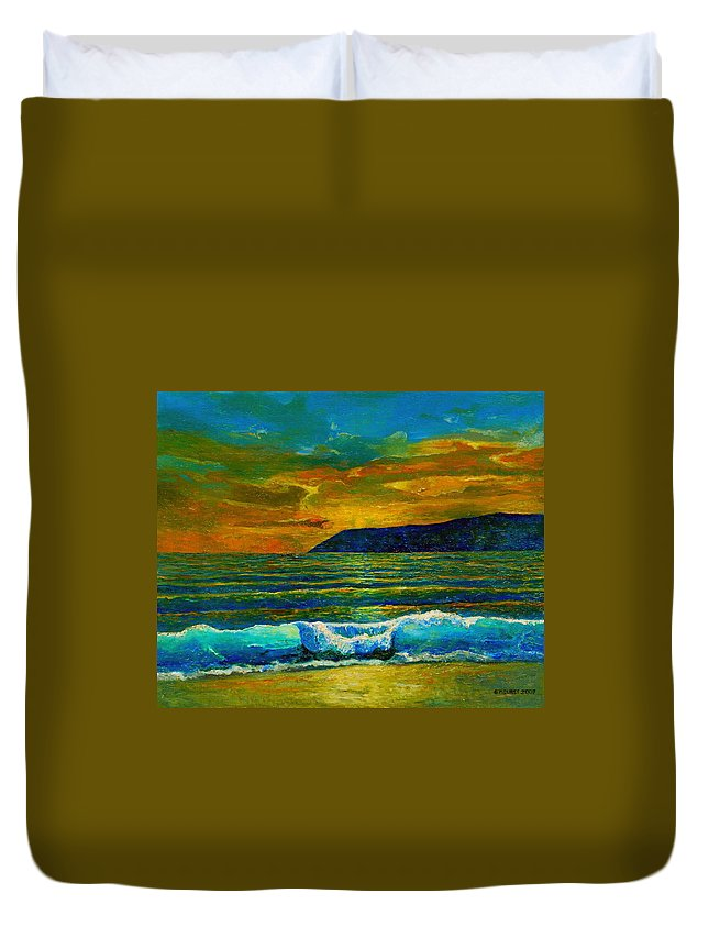 Seascape Duvet Cover featuring the painting Along The African Coast by Michael Durst