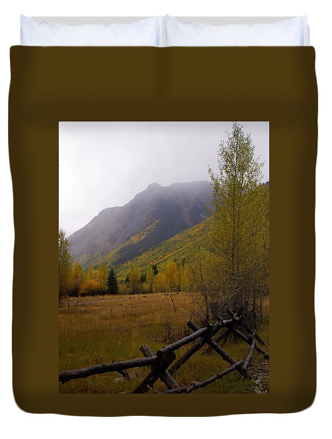 Colorado Duvet Cover featuring the photograph Along The Alpine Loop by Marty Koch