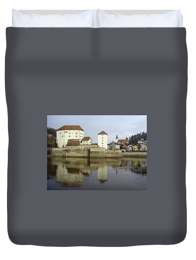 River Duvet Cover featuring the photograph Along The Danube by Mary Rogers