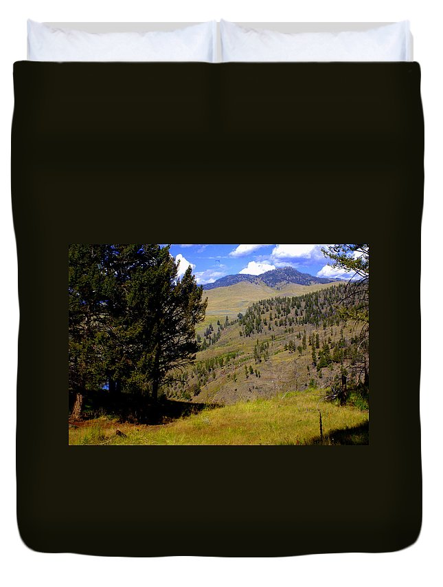 Yellowstone National Park Duvet Cover featuring the photograph Along The Hell Roaring Creek Trail by Marty Koch