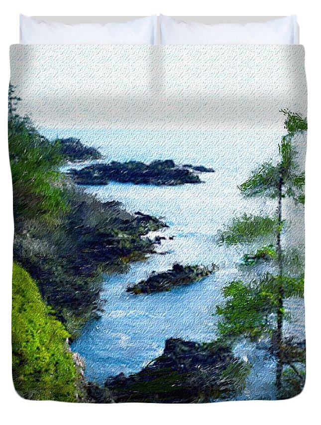 Digital Photograph Duvet Cover featuring the photograph Along The West Coast 1 by David Lane