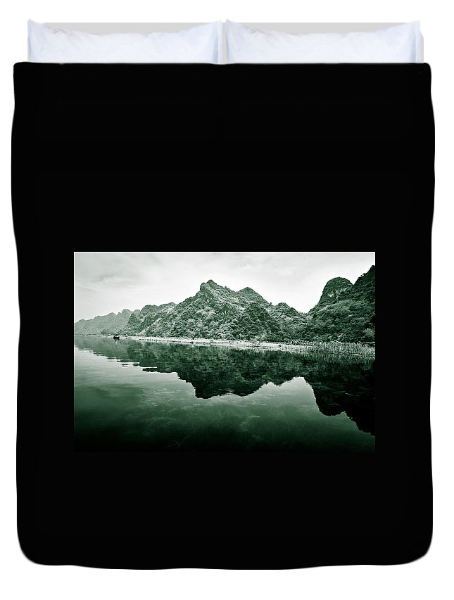 Yen Duvet Cover featuring the photograph Along The Yen River by Dave Bowman