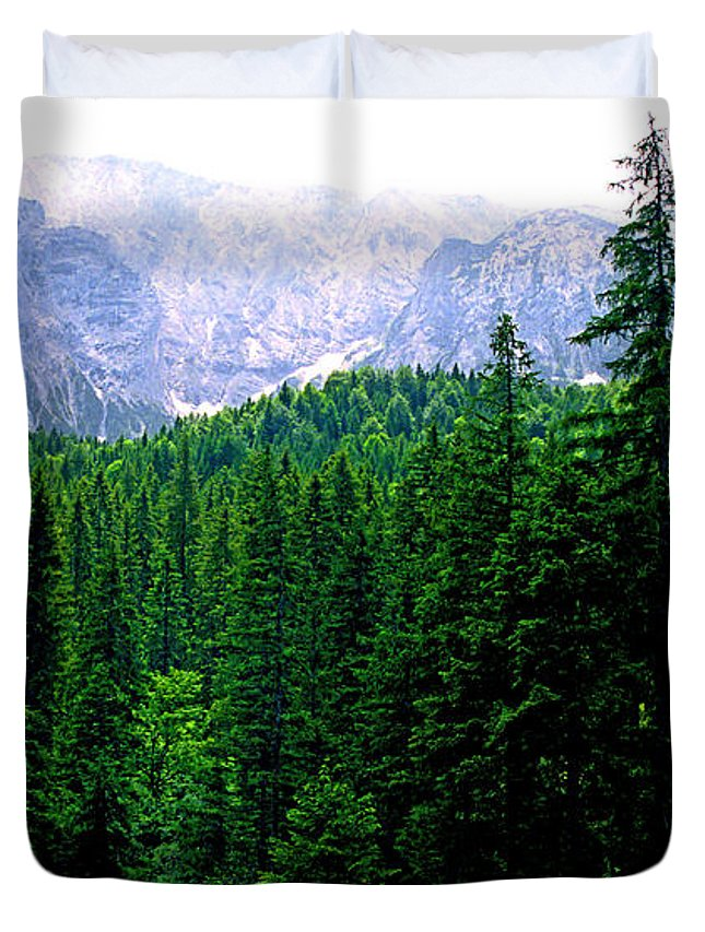 Bavaria Duvet Cover featuring the photograph Alpine Forest by Kevin Smith