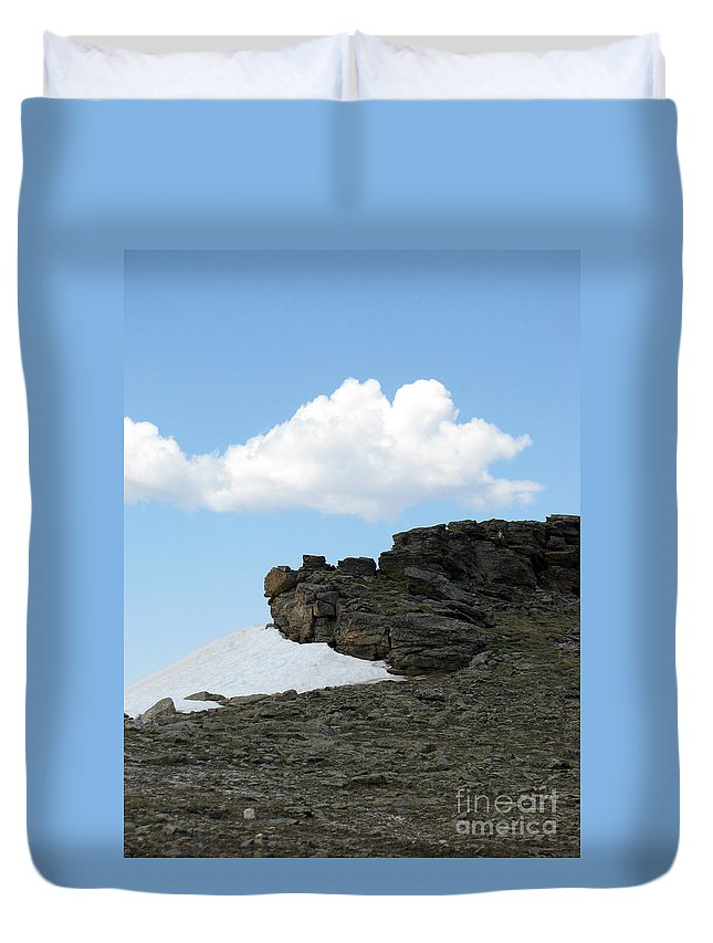 Rocky Mountains Duvet Cover featuring the photograph Alpine Tundra - Up In The Clouds by Amanda Barcon
