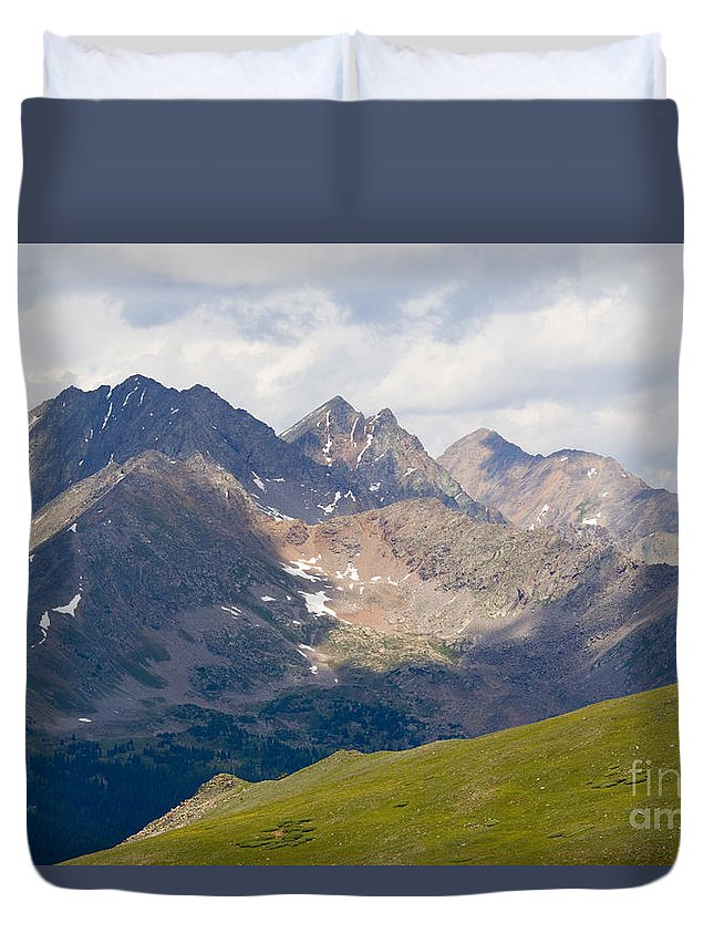 Cottonwood Pass Duvet Cover featuring the photograph Alpine Tundra And The Colorado Continental Divide by Steve Krull