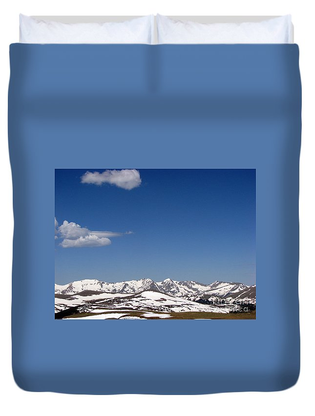 Mountains Duvet Cover featuring the photograph Alpine Tundra Series by Amanda Barcon