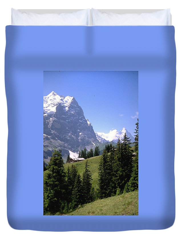 Alps Duvet Cover featuring the photograph Alps by Flavia Westerwelle