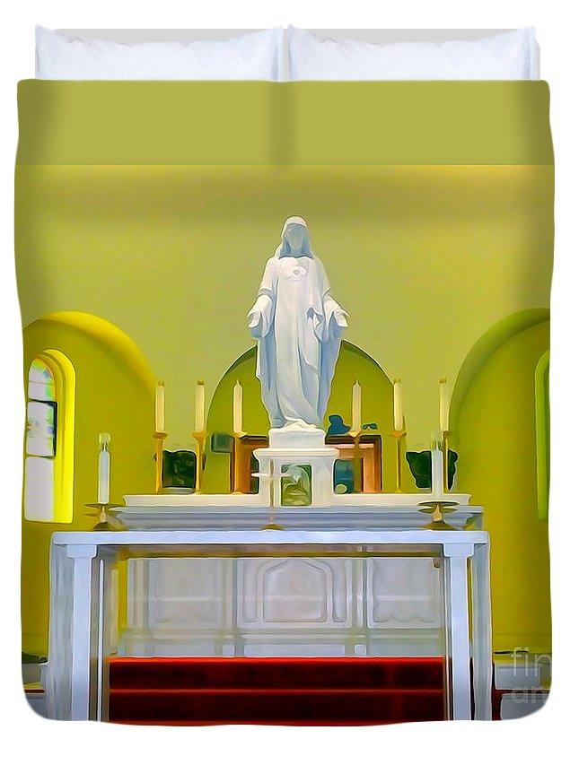 Digital Art Duvet Cover featuring the photograph Altered Altar by Ed Weidman