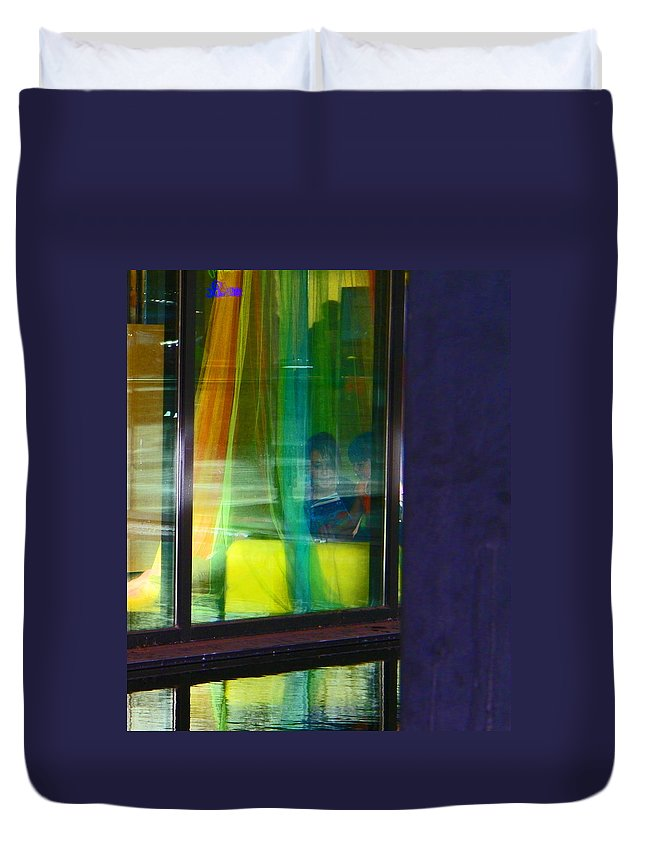 Abstract Duvet Cover featuring the photograph Alternate Reality 12 by Lenore Senior