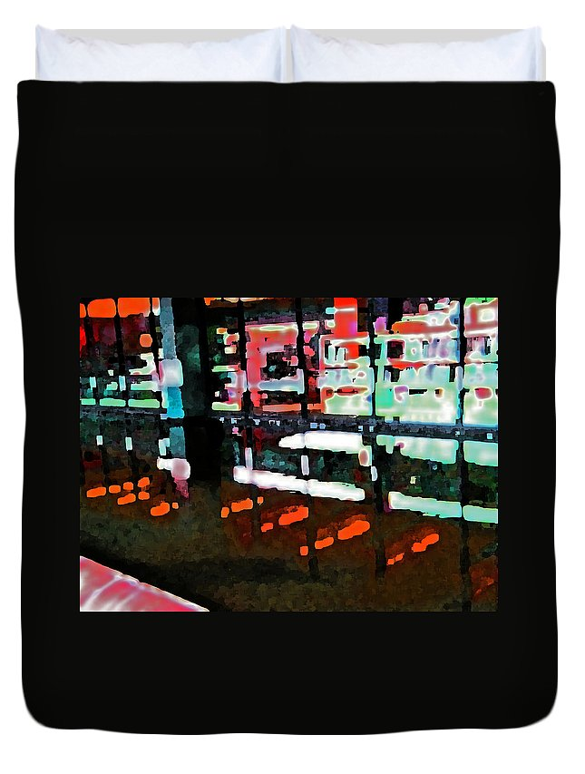 Abstract Duvet Cover featuring the digital art Alternate Reality 8-2 by Lenore Senior