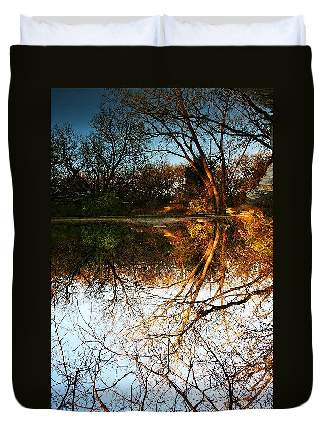 Landscape Duvet Cover featuring the photograph Alternate Reality by Abby Herberger