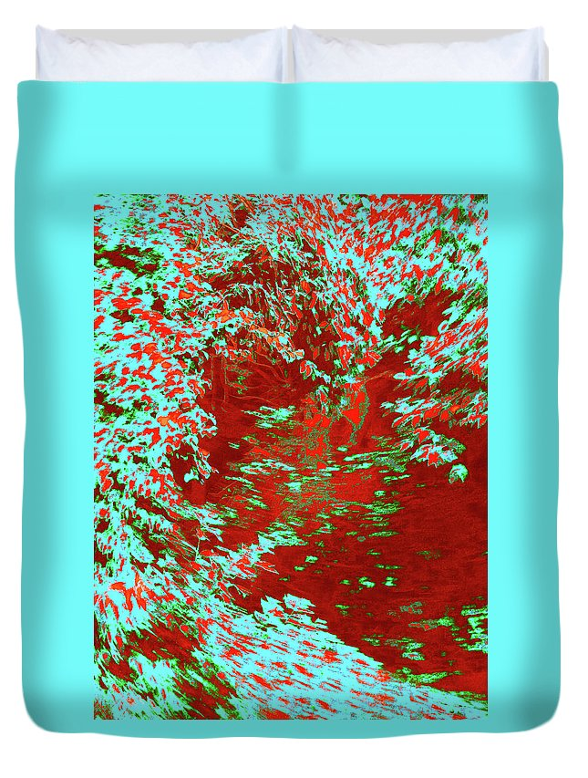 Trees Duvet Cover featuring the photograph Alternating Currents 5 by Gary Bartoloni