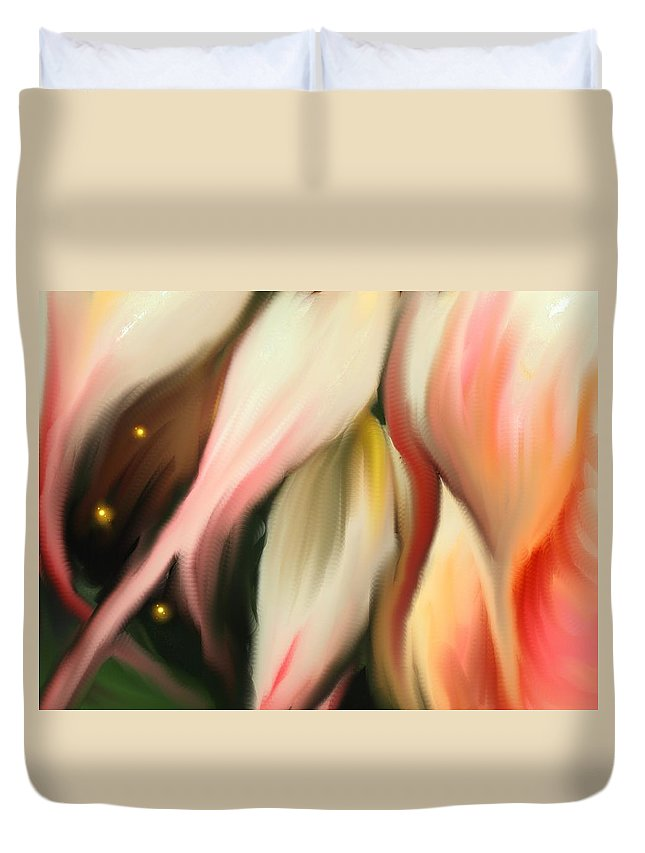 Abstract Duvet Cover featuring the digital art Alternative Dimension by Ian MacDonald