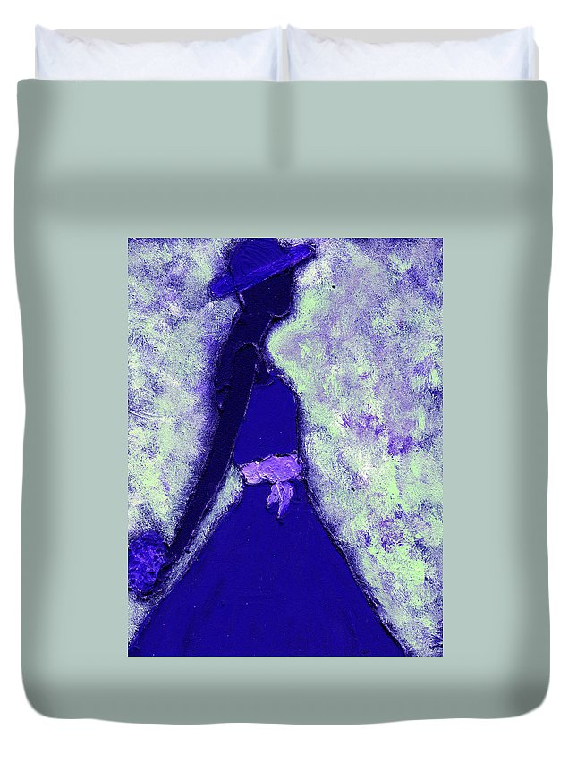 Woman Duvet Cover featuring the painting Always A Bridesmaid by Wayne Potrafka