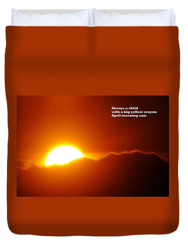 Sunset Duvet Cover featuring the photograph Always A Child by Jeff Swan