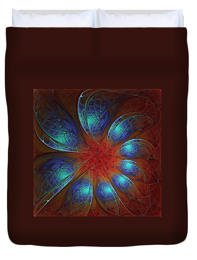 Digital Art Duvet Cover featuring the digital art Always And Forever by Amanda Moore