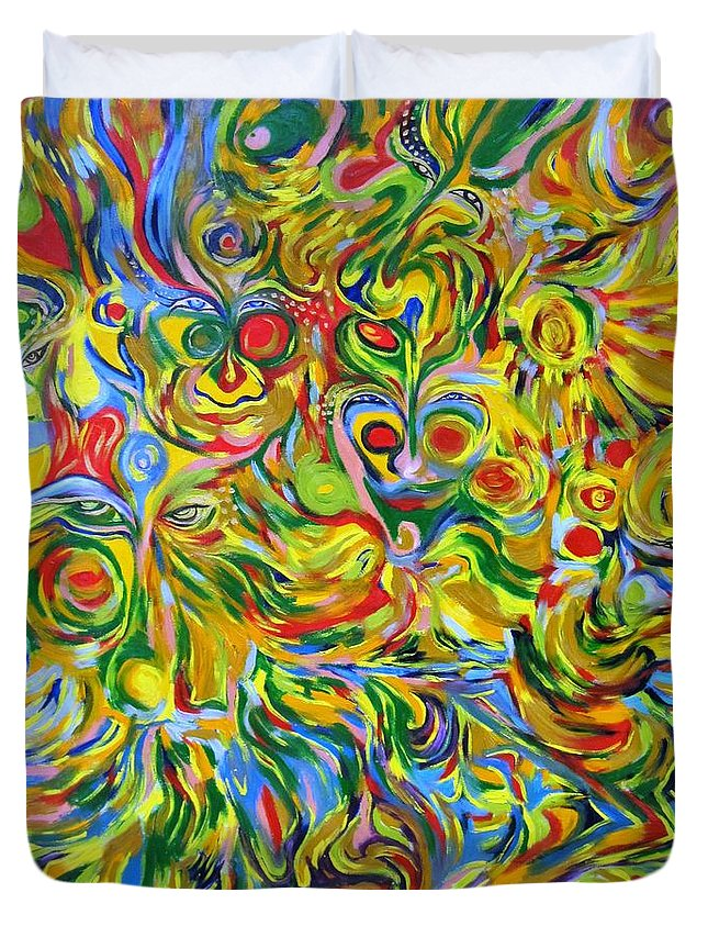 Studio Art Duvet Cover featuring the painting Always Around by Artist Alfredo Dane Llana