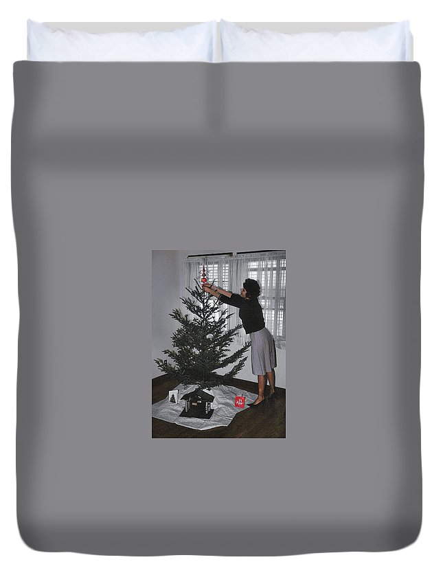 Vintage Duvet Cover featuring the photograph Always Put The Star On First by JAMART Photography