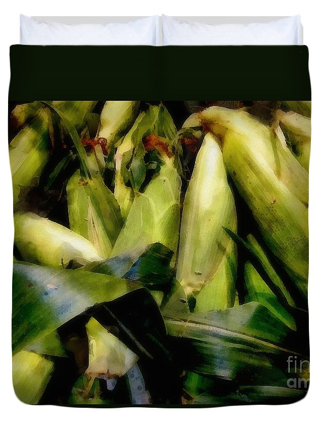 Cob Duvet Cover featuring the painting Amaizeing by RC DeWinter