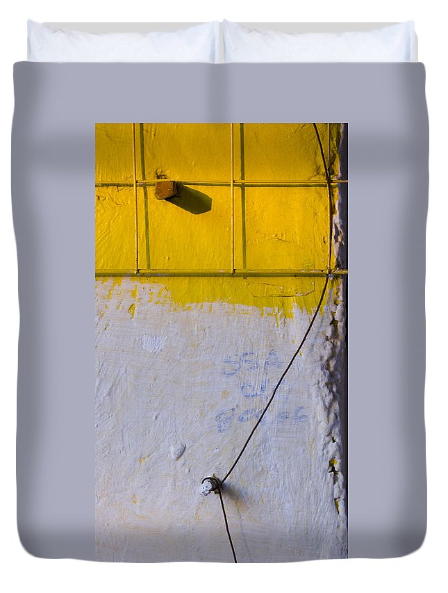 Abstract Duvet Cover featuring the photograph Amarillo by Skip Hunt
