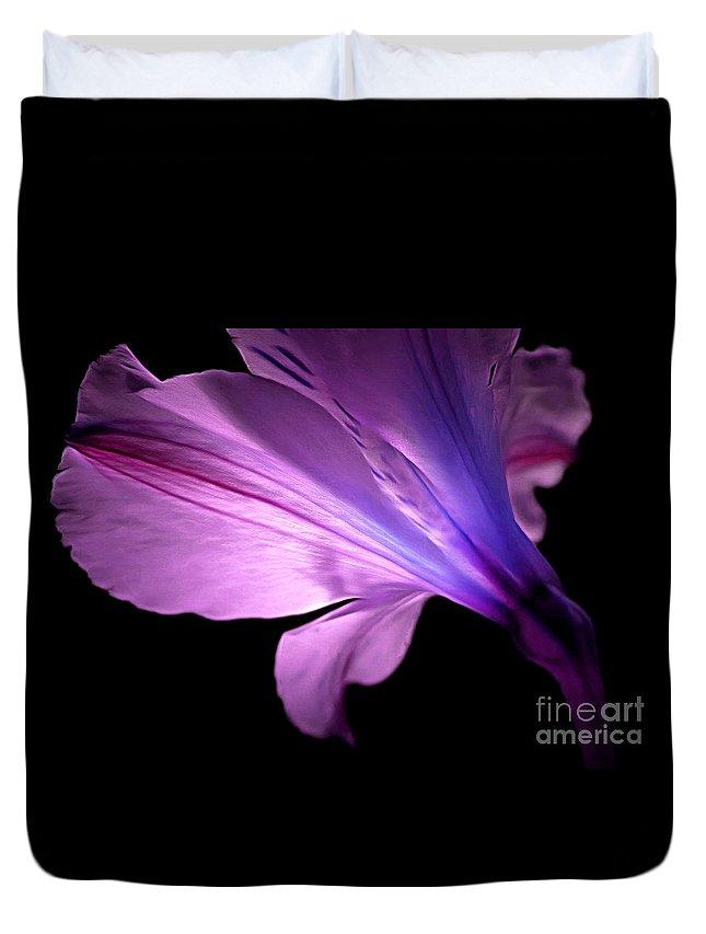 Amaryllis Duvet Cover featuring the photograph Amaryllis Glow by Krissy Katsimbras