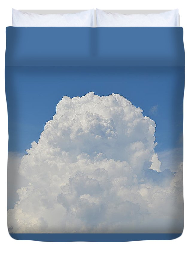 Cumulus Duvet Cover featuring the photograph Amazing Cumulus by Linda Covino