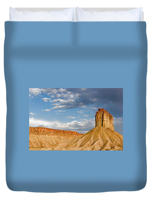 Mountain Duvet Cover featuring the photograph Amazing Mesa Verde Country by Alexandra Till