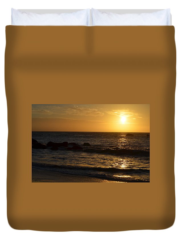 Sunsets Duvet Cover featuring the photograph Amazing Sunset 228 by Remegio Dalisay