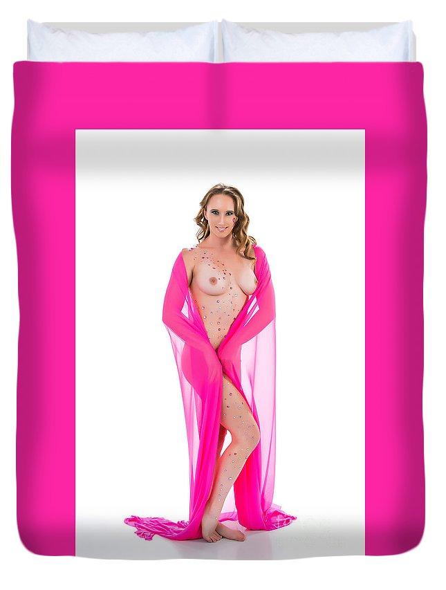 Amber Hudson Duvet Cover featuring the photograph Amber Nude Fine Art Print In Sensual Sexy 5175.02 by Kendree Miller